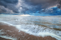 stormy sky over North sea coast