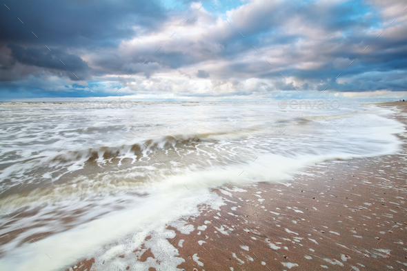 storm on North sea - Stock Photo - Images