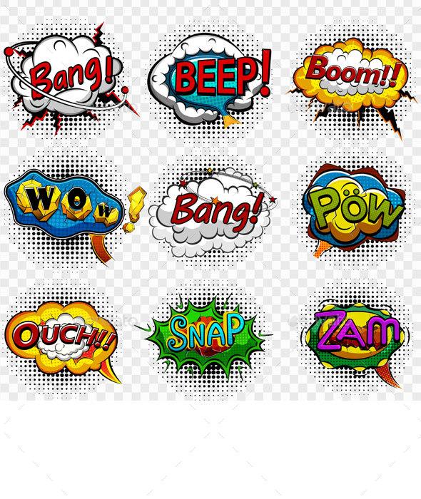 Comic Speech Bubbles - Decorative Symbols Decorative