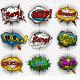 Comic Speech Bubbles - GraphicRiver Item for Sale