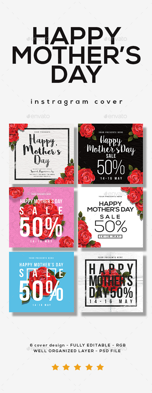 Happy Mother Day Instagram Cover - Social Media Web Elements