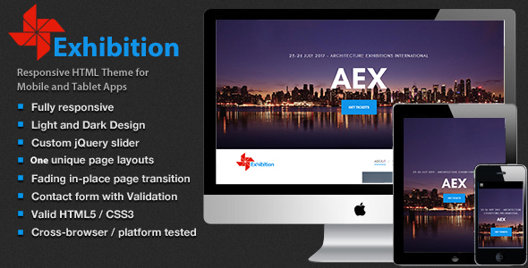 Archi exhibition – Landing Pages for Conferences, Expos, Events and Meetups