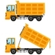 Dumping Trucks in Yellow Color - GraphicRiver Item for Sale