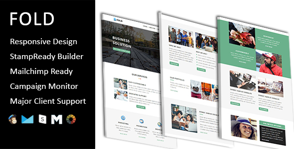 Fold – Email Template Multipurpose Responsive with Stampready Builder Access