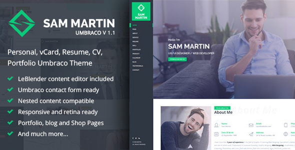Sam Martin - Umbraco Starter Kit - CodeCanyon Item for Sale