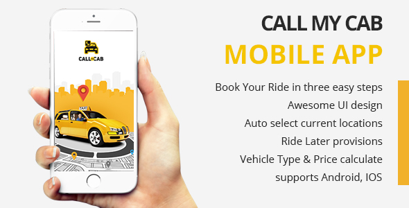 Online Taxi Booking App -Call My Cab Mobile App - CodeCanyon Item for Sale