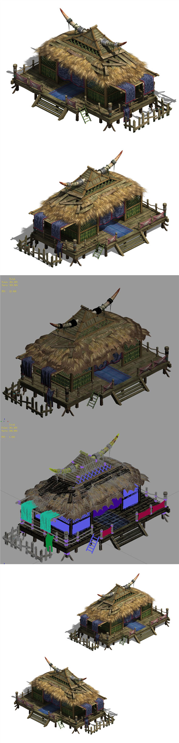 Water cloud Ze - horn cottage - 3DOcean Item for Sale
