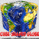 Cube-shaped Extruded Continents Globe Northern Hemisphere