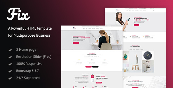 Fix - Business HTML Template