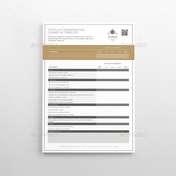 Hotel Accommodation Survey A4 Template Kfea 1 Jpg