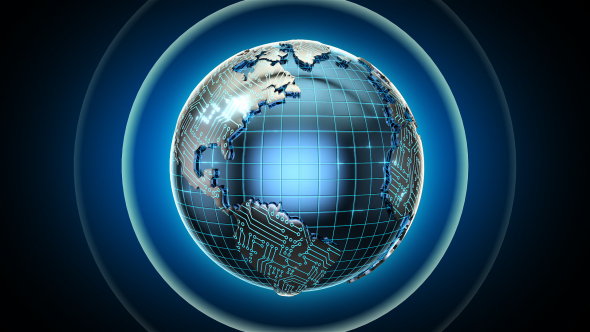 Earth Circuit wire frame by pingingz | VideoHive