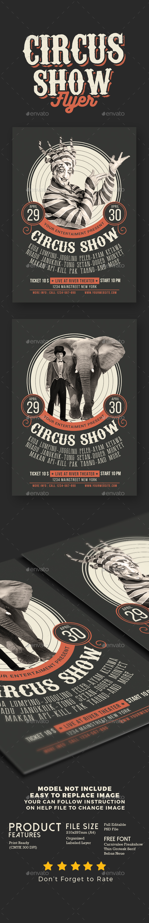 Circus Show Flyer - Events Flyers