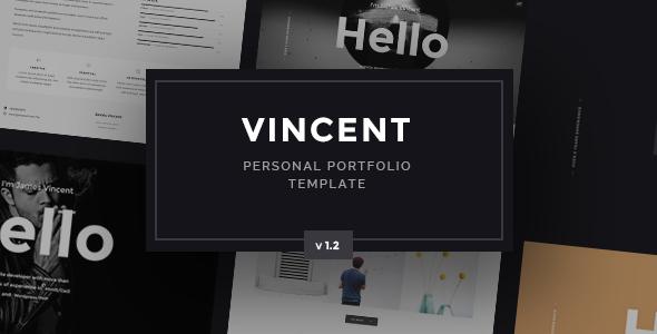 Vincent - Personal Portfolio Template - Portfolio Creative