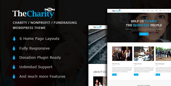 Charity – Nonprofit / Fundraising WordPress Theme