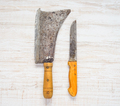 Meat Cleaver and Butcher Knife