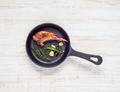 Grilled Lamb Chop in Frying Pan