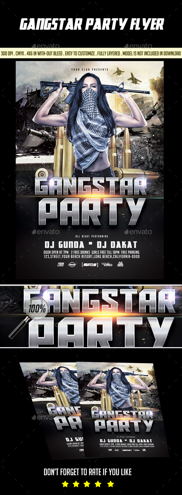 Gangstar Party Flyer - Events Flyers