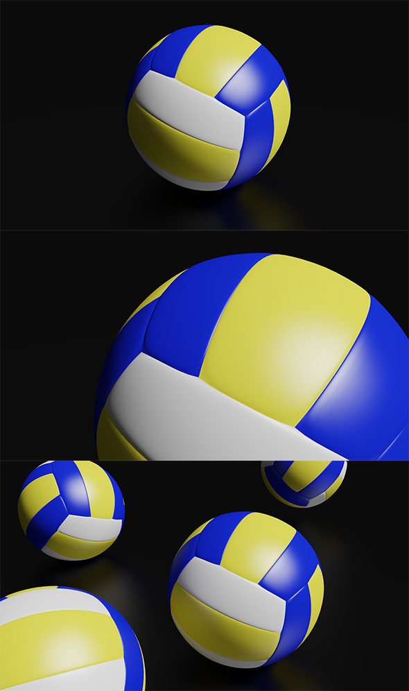 High Detailed Volleyball Ball - 3DOcean Item for Sale