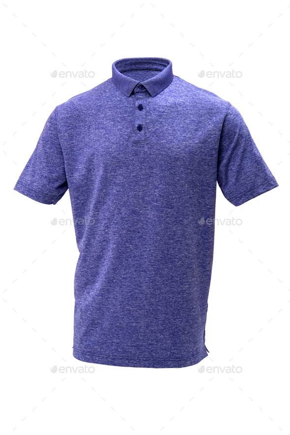 Golf blue and white tee shirt for man or woman - Stock Photo - Images