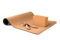 Yoga Cork Mat Set With Cork Block and Strap