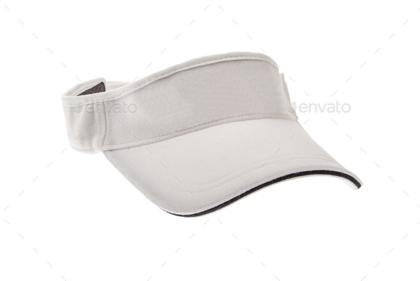 White golf visor for man or woman - Stock Photo - Images