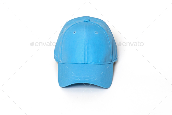 Light blue adult golf or baseball cap  - Stock Photo - Images