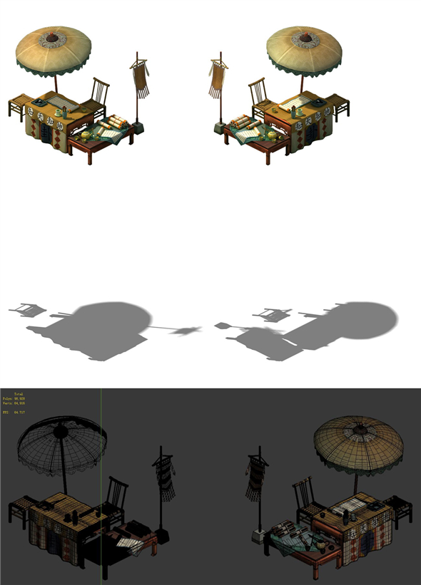 Game Model - fortune-telling stall - 3DOcean Item for Sale