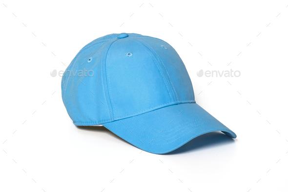 Light blue adult golf or baseball cap  - Stock Photo - Images