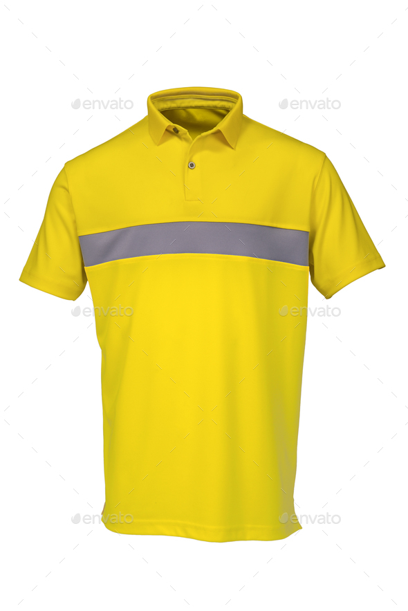 Golf teeshirt yellow color for man or woman - Stock Photo - Images