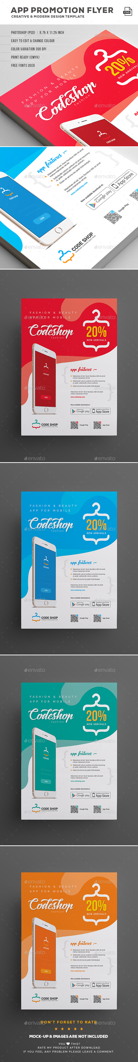 Mobile App Flyer - Commerce Flyers