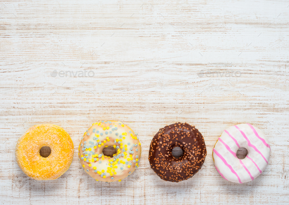 Doughnuts on Copy Space Area - Stock Photo - Images