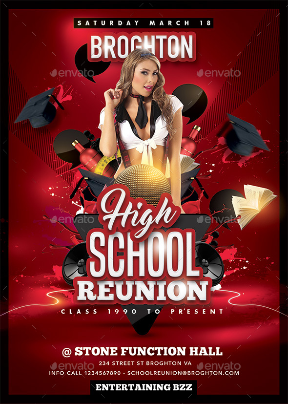 High School Reunion - Events Flyers