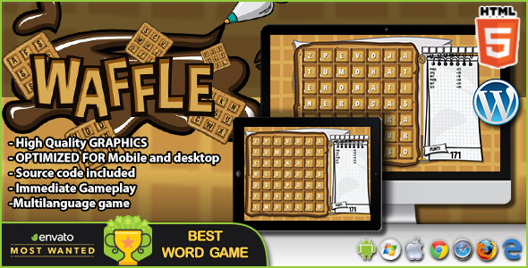 Waffle - HTML5 Word Game - CodeCanyon Item for Sale