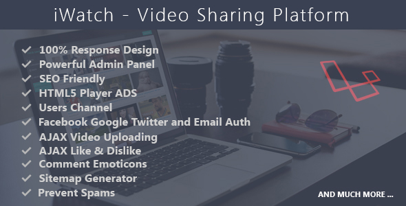 iWatch - Video Sharing Platform - CodeCanyon Item for Sale
