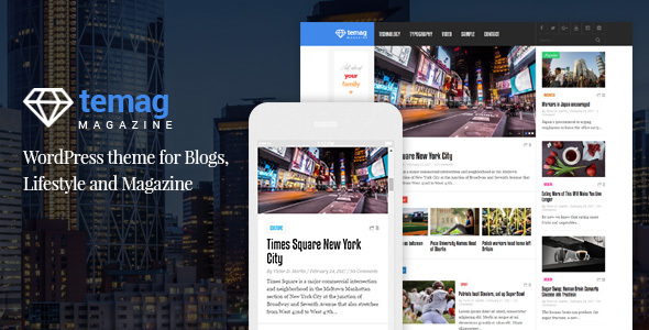 Temag Magazine – WordPress Responsive Clean Theme