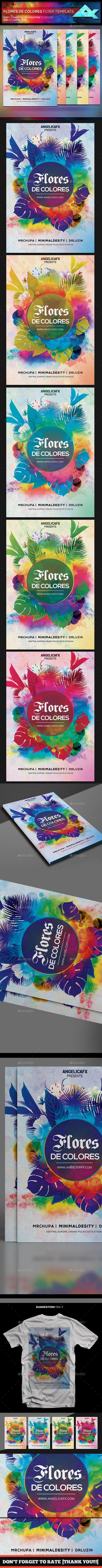 Colores de Flores Flyer Template - Flyers Print Templates