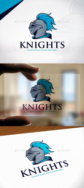 Knight Warrior Logo Design - Humans Logo Templates