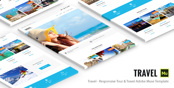 Travel – Responsive Tour & Travel Adobe Muse Template