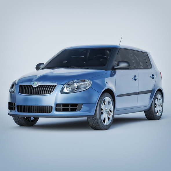 Vray Ready Skoda Fabia Car - 3DOcean Item for Sale