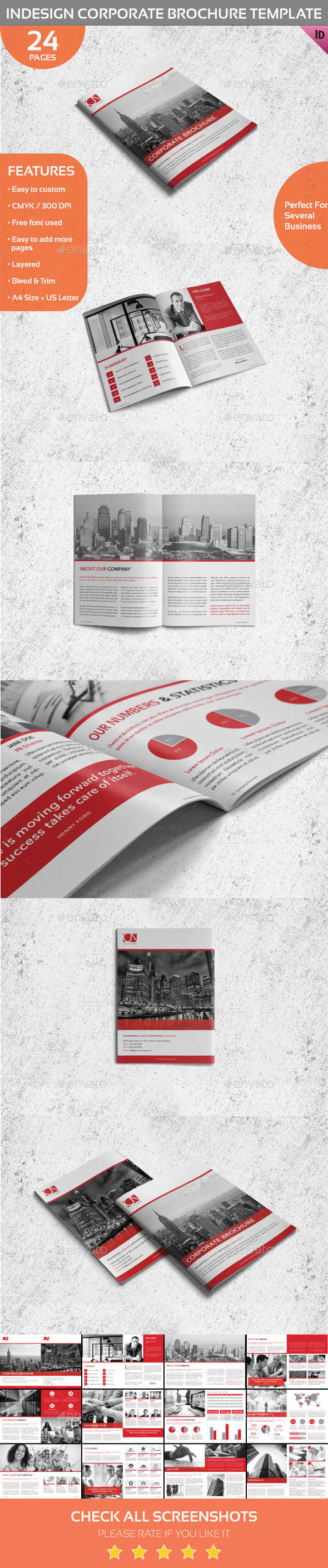 Indesign Corporate Brochure Template - Corporate Brochures