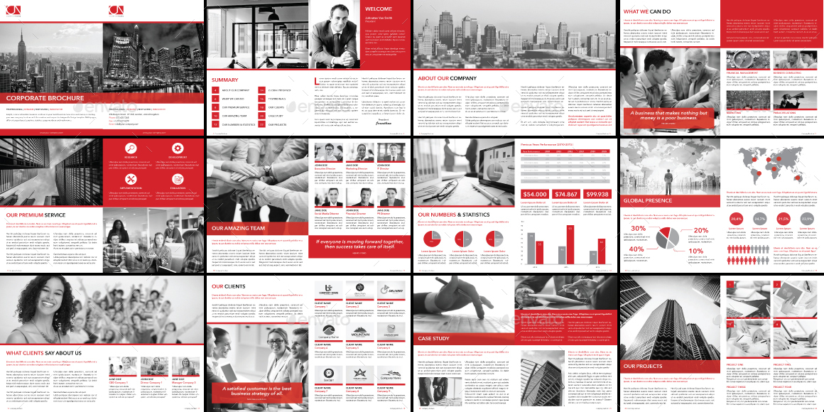 Indesign Corporate Brochure Template by carlos_fernando | GraphicRiver