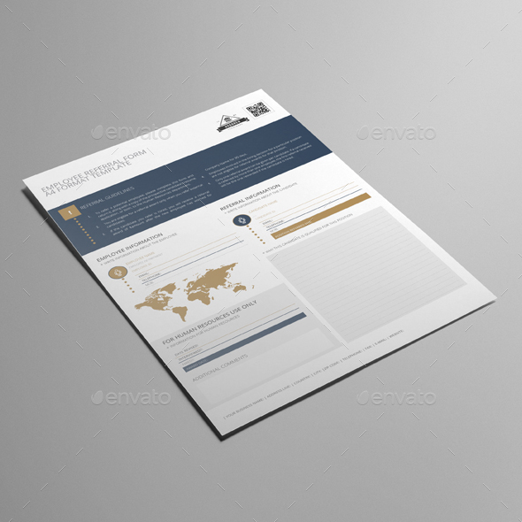 Employee Referral Form A Template By Keboto  Graphicriver
