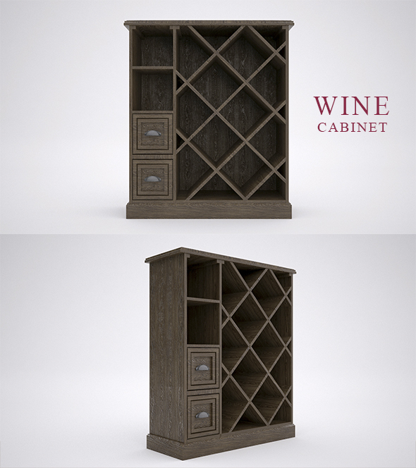 WINE CABINET - 3DOcean Item for Sale