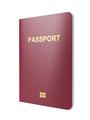 Biometric passport isolated on white background - PhotoDune Item for Sale