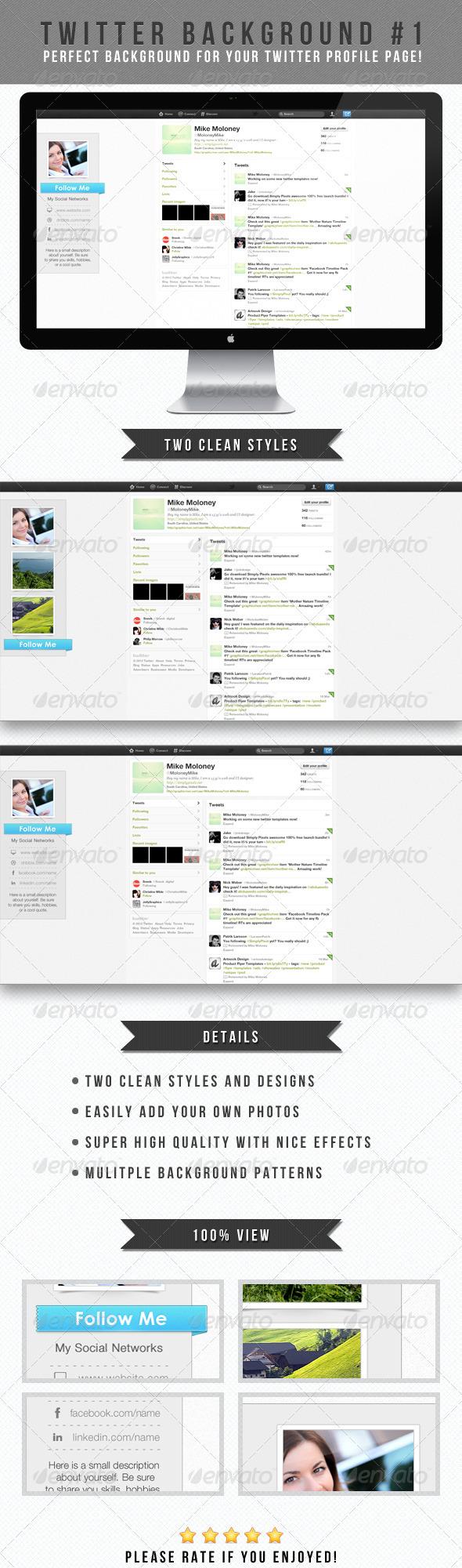 Twitter Background #1 - Twitter Social Media