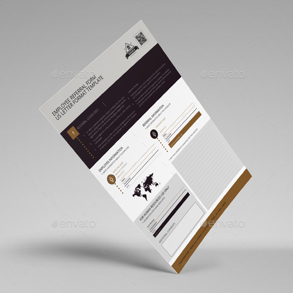 Employee Referral Form Us Letter Template By Keboto  Graphicriver