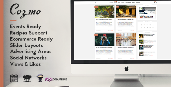 Cozmo - Clean WordPress Blog / Events Theme