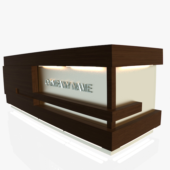 Reception Desk 1 - 3DOcean Item for Sale
