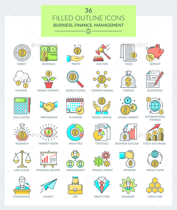 Business and Finance Icons - Business Icons
