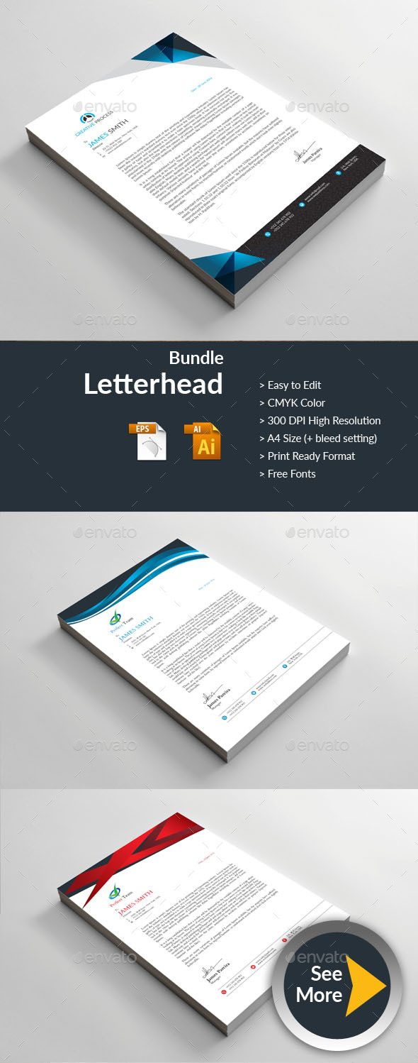 Letterhead - Business Cards Print Templates